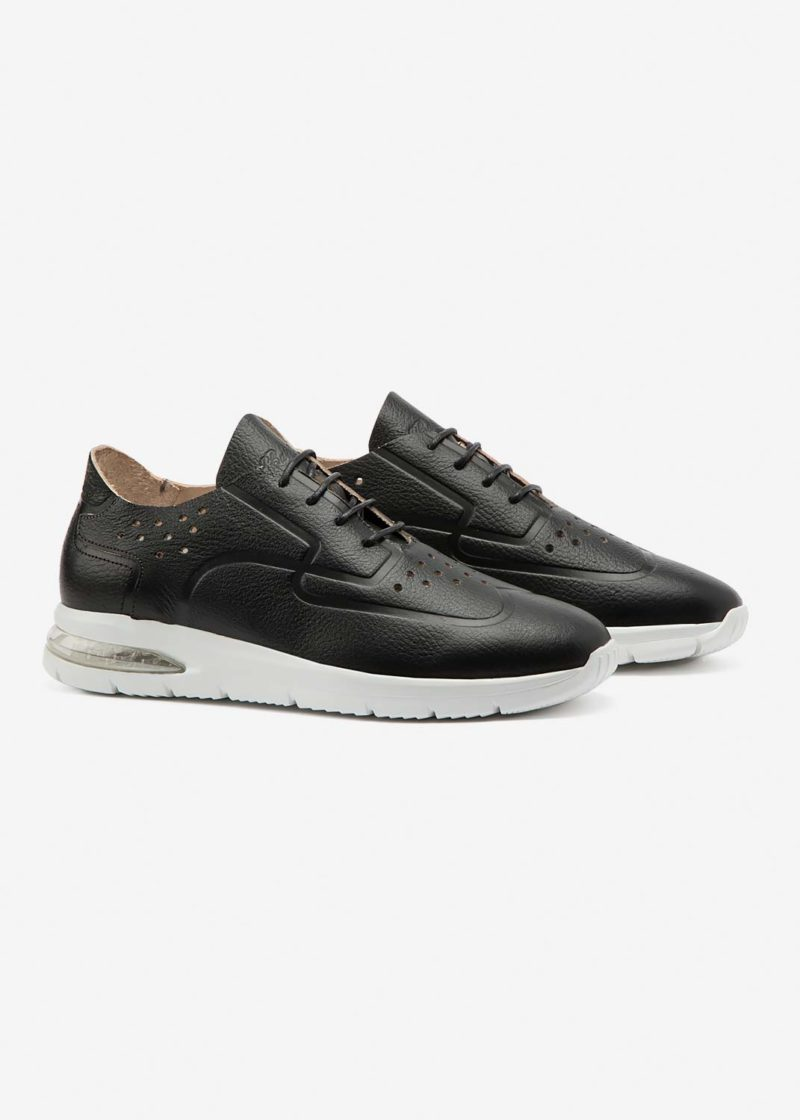 Air Grecale Black Leather