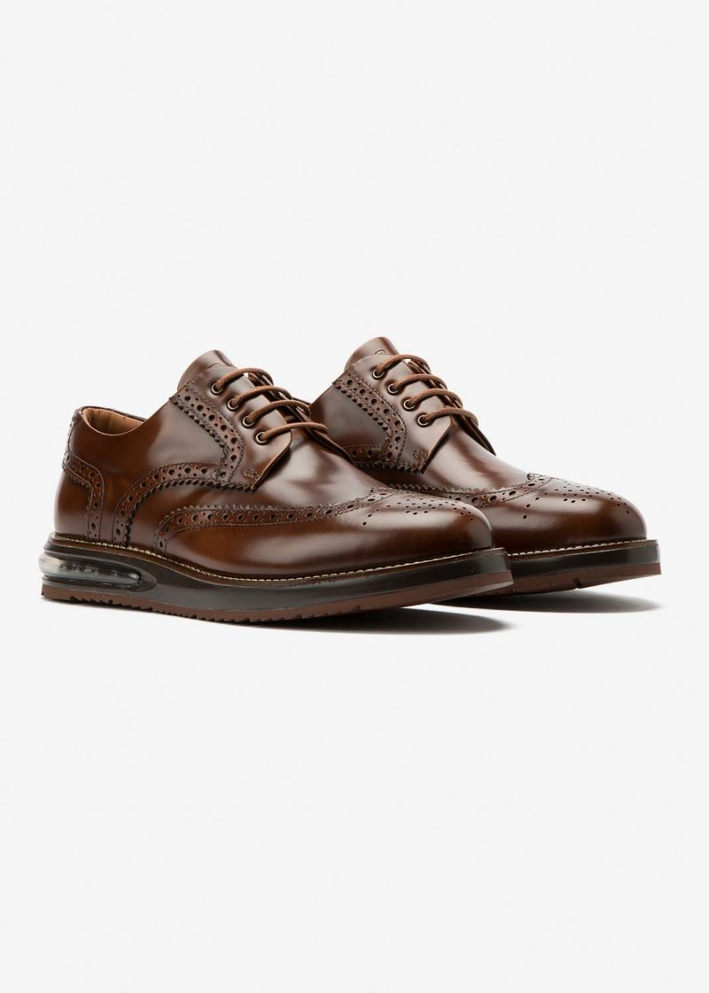 Air Brogue Caramel Leather