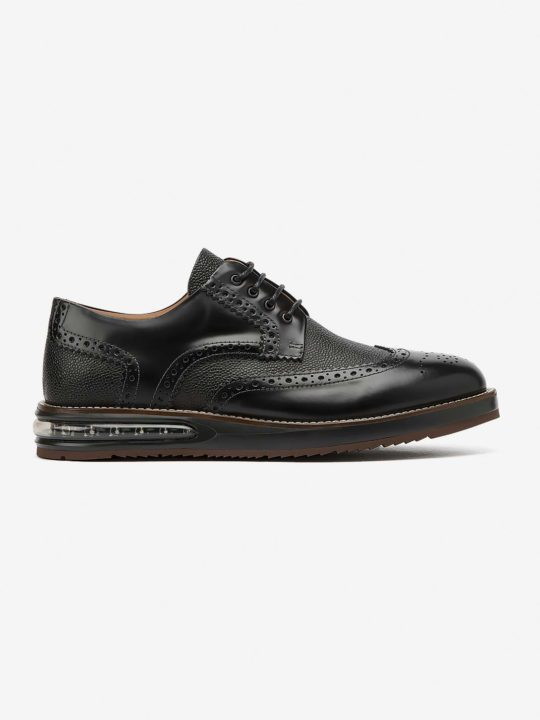 Air Brogue Black Grain