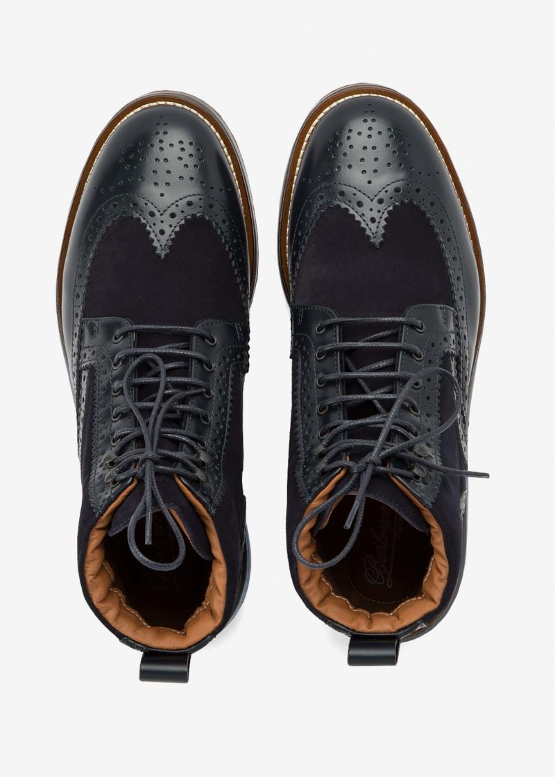 Air Brogue Boot Blue Leather
