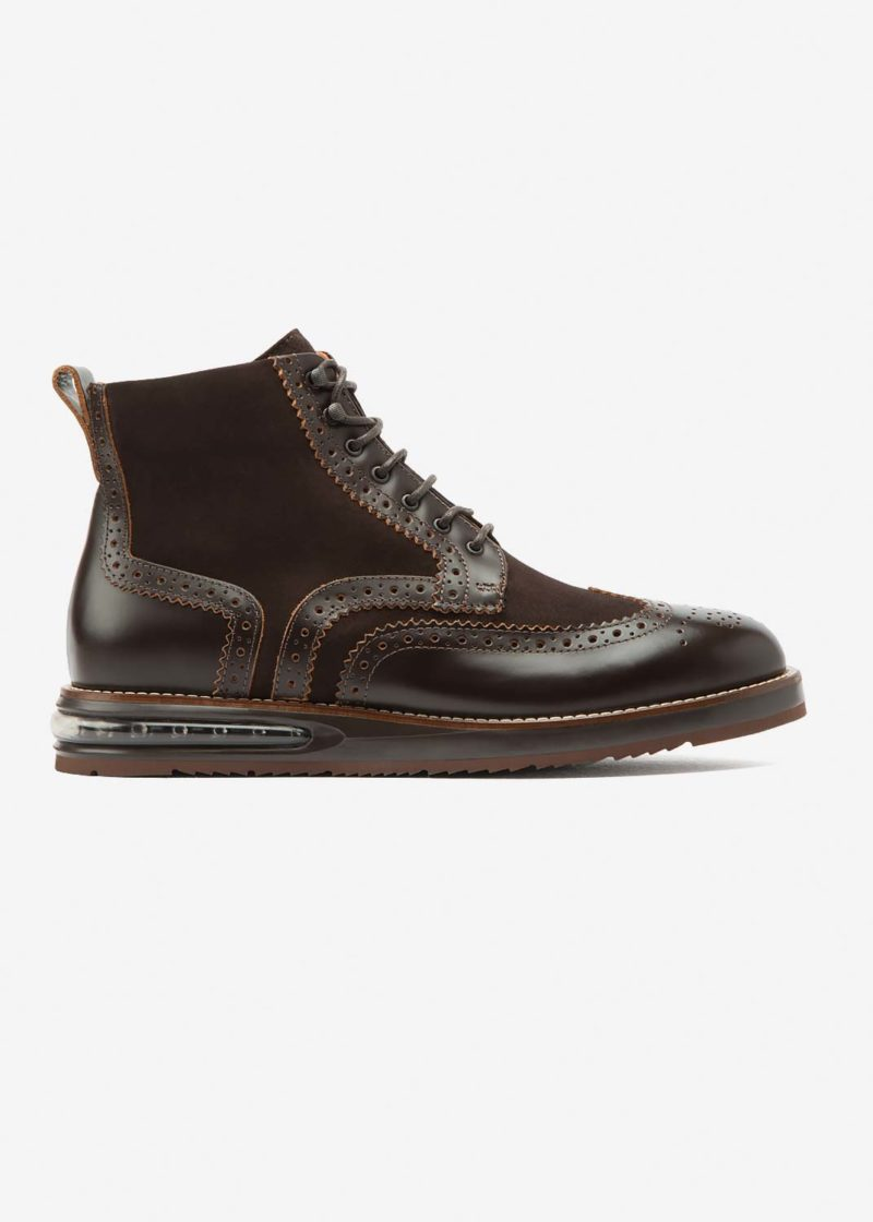 Air Brogue Boot Choco Leather
