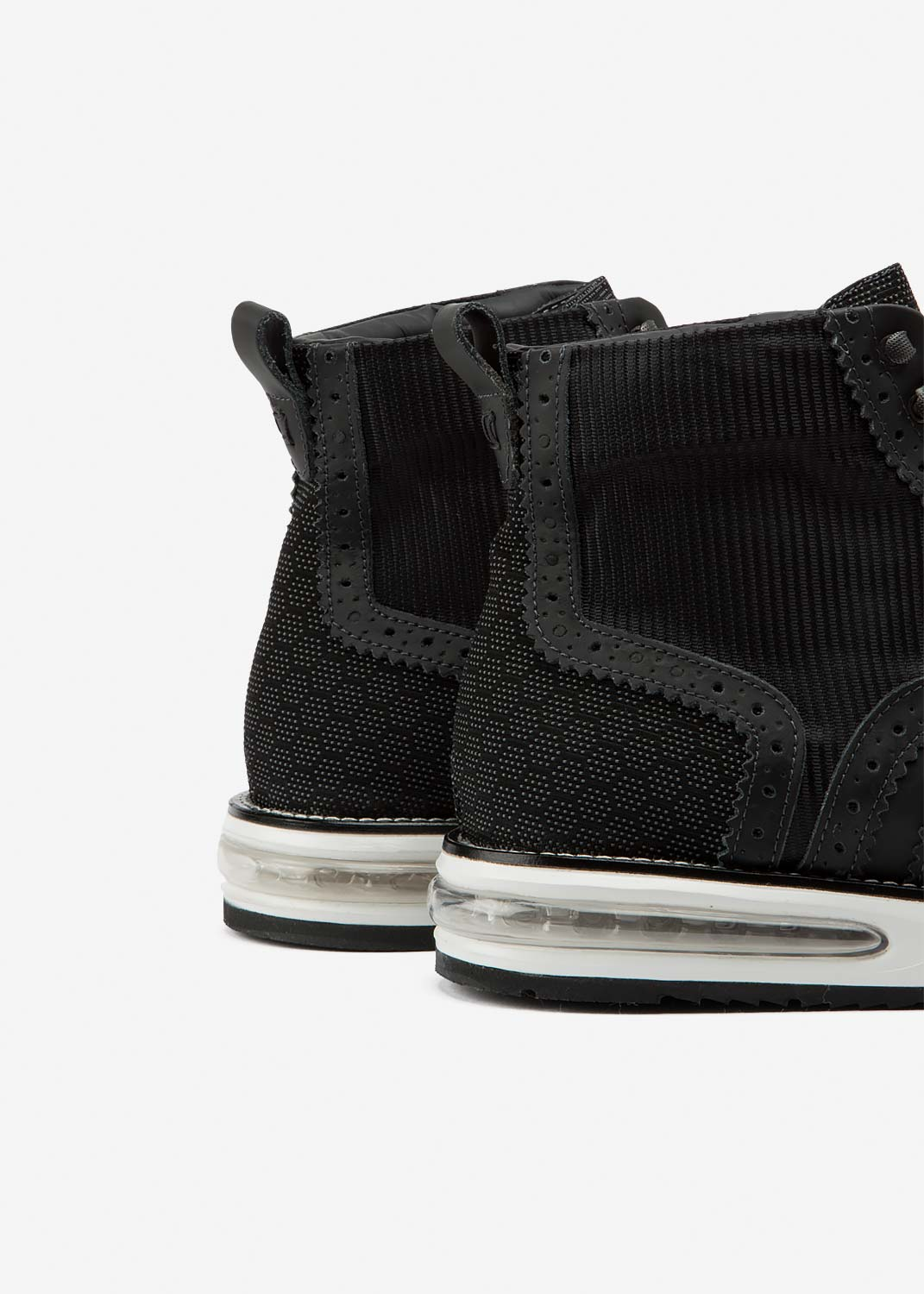 Air Brogue Boot Black Tech