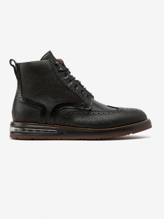 Air Brogue Boot Black Grain