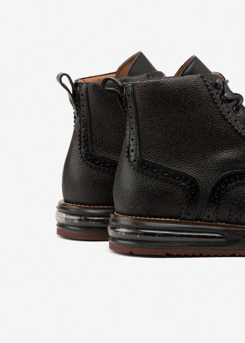 Air Brogue Boot Black Grain