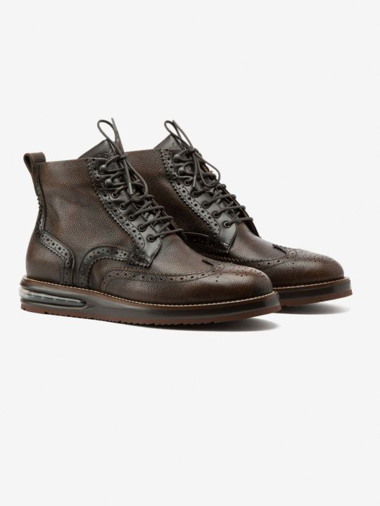 Air Brogue Boot Choco Grain