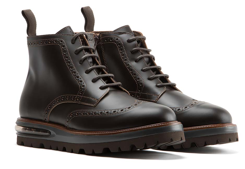 Air Brogue Boot Brown Leather